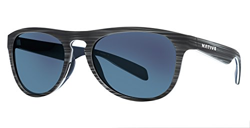 Native Eyewear Unisex Sanitas Driftwood/White/Blue/Blue - Drift Eyewear