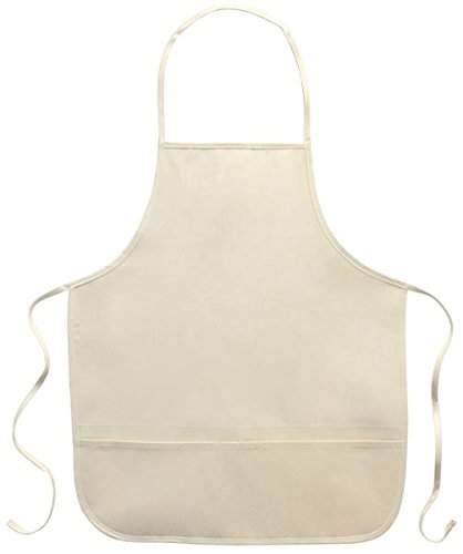 Canvas Corp Twill Adult 2-Pocket Apron, 20-Inch by 23-Inch, Natural
