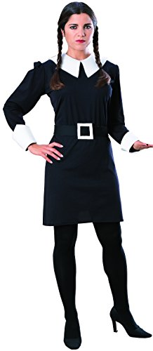 [Rubie's Costume Co Women's The Addams Family Wednesday Costume, Black, Small] (The Addams Family Wednesday Costumes)