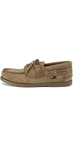 Henri Lloyd Solent Boat Shoes for Sailing Yachting - Deck Shoes Brown Nubuck Caramel