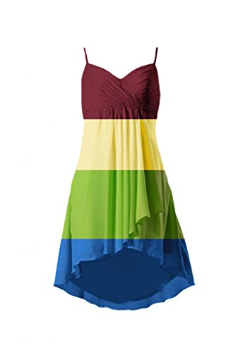 Colori Cinghie Prom Da Partito Alto W Daisyformals Abito Chiffon Perline bm1732 Corto Altri basso Vestito ZwFTqP6