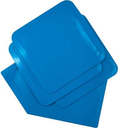 Throw-Down Baseball Bases...Set Of 3 Bases & 1 Home Plate...Blue (2 Sets of Bases) by Olympia Sports