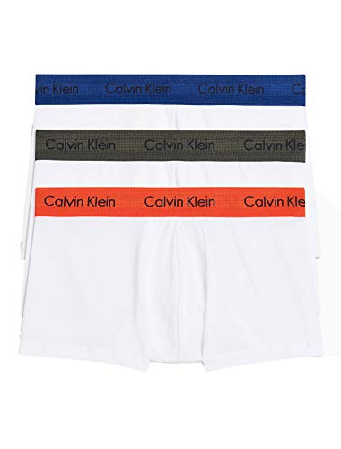 Calvin Klein Men's 3-Pack Stretch Cotton Low-Rise Trunks, Cacao (X-Large) Cotton 3 Pack Trunk