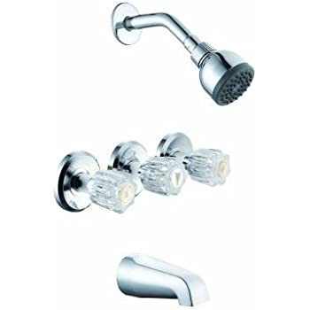 Glacier Bay 3-Handle Tub and Shower Faucet Set in Chrome 769032 ...
