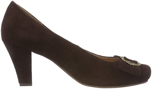 Toe Women's Closed Andrea Brown Heels Conti 3009206 Brown Dark gq1ZwOPI