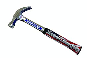 Vaughan R20 20-Ounce Steel Eagle Curved Claw Hammer, Smooth Face, 13 3/4-Inch Long.