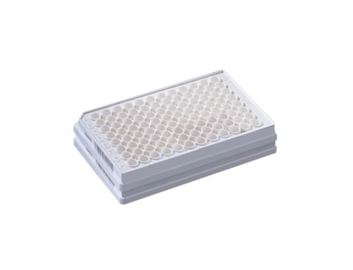Corning FiltrEX 3505 Polystyrene 96 Well Solid White Filter Plate, With 0.2 micrometer PVDF Membrane, Without Lid, Sterile (Case of 50)