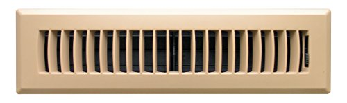 Accord APFRTPL212 Plastic Floor Register with Louvered Design, 2-Inch x 12-Inch, Taupe Finish