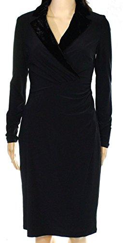 Lauren Ralph Lauren Women's Plus Size Velvet-Lapel Dress (16W, - Lauren Ralph Size 16