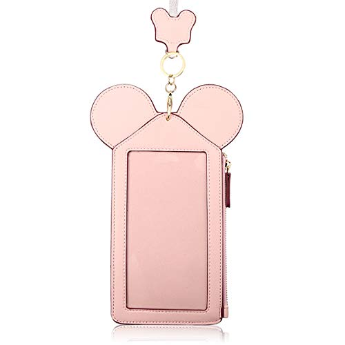 Neck Pouch, Charminer Women Cute Animal Shape Lanyard Phone Purse Neck Bag Travel Documents, Card Holder Coin Purse Neck Bag for 4.7/5.5in Phones Light Pink 4.7in by CHARMINER