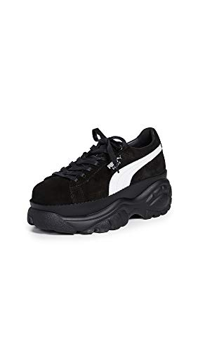 PUMA Women's Suede Buffalo Sneakers, Puma Black, 10 Medium US