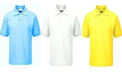 638777ebb Smart Clothing Kids Polo T Shirt Poloshirt Age 2 3 4 5 6 7 8 9 10 11 12 13  School Pe Uniform[White 9-10 Years]: Amazon.co.uk: Clothing