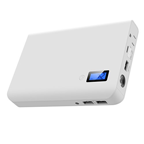 Lvshan 24000mAh Portable AC Power Bank with 3-USB Ports and 1 AC Outlet, Portable Laptop Power Bank External Battery Pack Travel Charger For All Laptops, Notebooks, Tablets, Smart phones by Lvshan