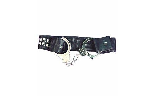 Forum Novelties Inc Men's Studded Belt with Handcuffs Multicoloured One Size