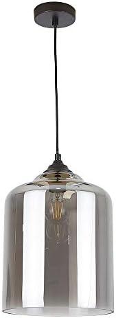 Lámpara Colgante Interior Decorativa E27, Cristal Humo Tecnolite 20CTL8183MVCH