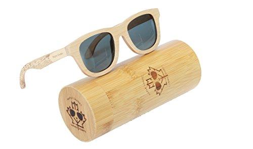 Canada Robby's Maple Wooden Sunglasses UV400 Polarized, Classic Wayfarer Frames, with Bamboo Case - Maple - Wayfarer Canada