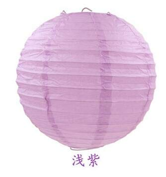 BeesClover 10pcs/lot Paper Ball Festival Lanterns Party Supplies Craft Gift Paper Lanterns for Wedding Favors Decoration Light Purple
