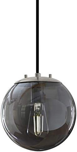 Sferra Brushed Nickel Globe Pendant Light Fixture