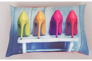40x60 cm Fotodruck mit abnehmbarem Bezug High Heels Kissen ca incl.Füllkissen
