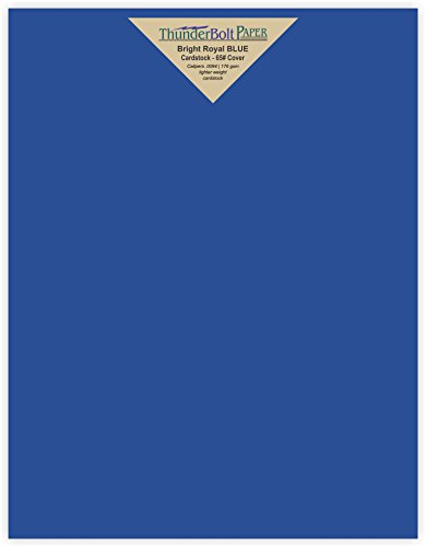 100 Bright Royal Blue 65# Cardstock Paper 8.5