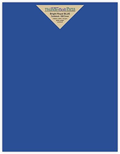 50 Bright Royal Blue 65# Cardstock Paper 8.5