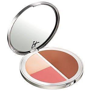 Live Love, Laugh Vitality Face Disc Matte Brownzer, Blush & Illuminator .54 oz by It Cosmetics