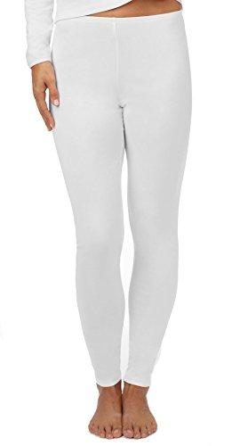 Cuddl Duds Climatesmart Legging, White, 1XLarge