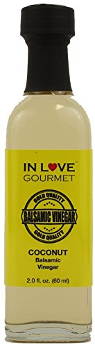 (In Love Gourmet Coconut Balsamic Vinegar 60ML/2oz (Sample Size) Coconut Salad Dressing, Give a Unique Tropical Island Flair to Your Dishes)