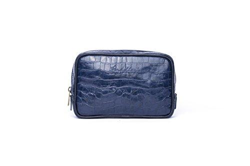 De Bradleys Metal Azul Mano incorpora El Grabada Coco Bolso Blue Con Italiana Coco Efecto Piel Logo Oq5rEqwtax