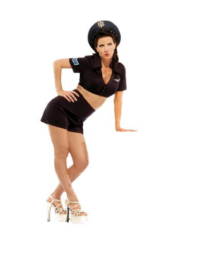 (Air Force World War II Pin-Up Girl Theater Costume Large Navy)