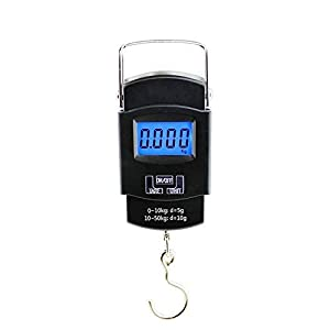 FreshDcart Heavy Duty Portable Hook Weighing Machine Digital Type Manual Weight M/c 10 Kg-50Kg Temp Scale for Home, Kitchen, Traveling (Black, FDC-990)