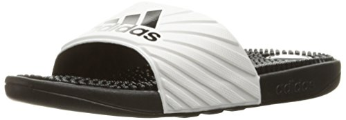 adidas Womens' Shoes | Voloossage Athletic Slide Sandals, White/Black, (6 M US)