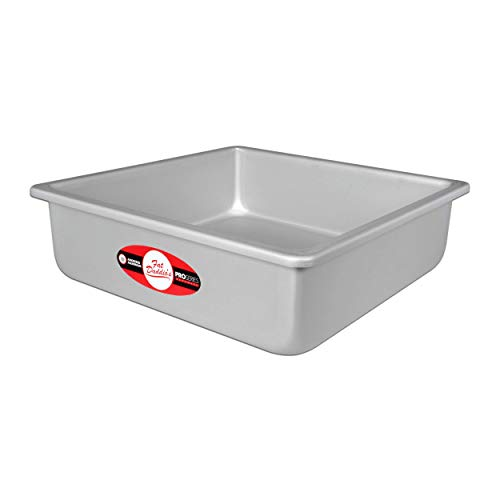 Fat Daddios Anodized Aluminum Square Cake Pan, 8 Inches by 8 Inches by 3 Inches