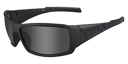 Wiley X Twisted Black Ops Sunglasses, Smoke Grey, Matte Black