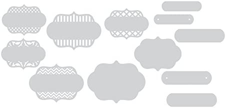 Sizzix Thinlits Dies 12//Pack Ornate Labels