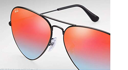 Ray Non Aviator mirror Metal 3025 Gradient Black Shiny Large ban Red mirrored Sunglasses polarized Non XqrwBX