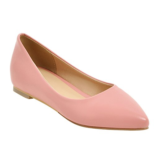 Low Womens Wedges Flats Inside Casual Pumps Pink Latasa Toe Pointed qPdXXwU