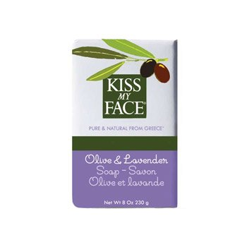 Kiss My Face Moisturizing Bar Soap for All Skin Types - Olive & Lavender - 8 oz (Kiss My Face Soap)
