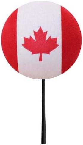 Coolballs Canada Canadian Country Flag Car Antenna Ball//Mirror Dangler//Desktop Spring Stand