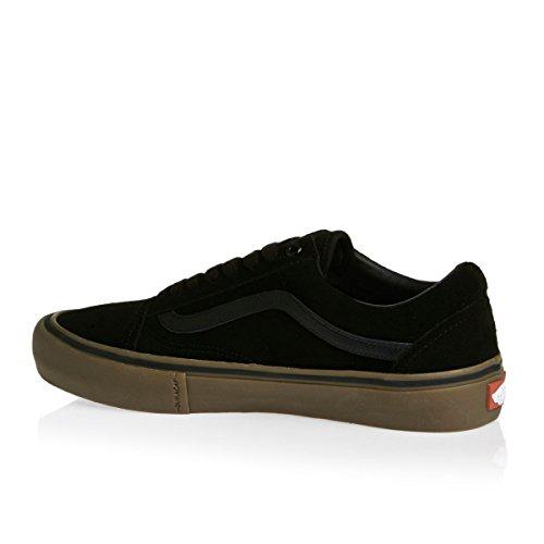 Fourgons Herren De Vieux Skool Chaussures Skate Pro Noir / Gomme