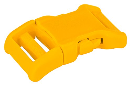 YKK | 3/4 Inch Contoured Side Release Plastic Buckle | 8 Color Choices (Yellow, 10 ()