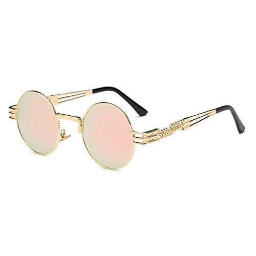 WrapEyeglasses Gothique Métal Polarized Rond Femmes soleil Lunettes de Steampunk hibote C14 Hommes aqA5wtxX5