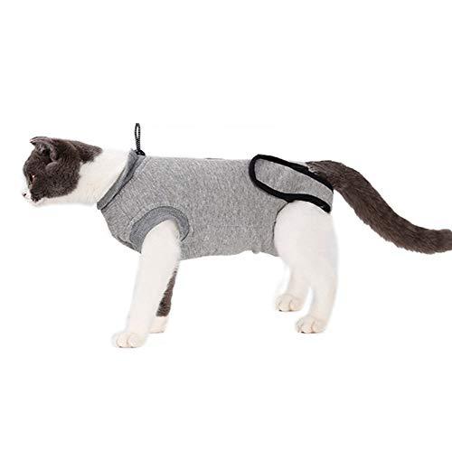 Edtara Suministros para Mascotas Traje de recuperación de Gato para el Cuidado de esterilización