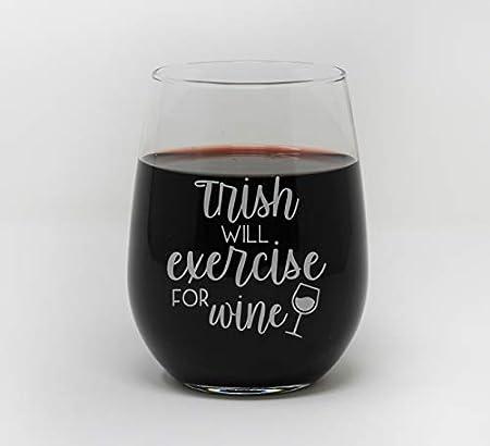 Copa de vino sin tallo para hacer ejercicio para vino personalizado, copa de vino 27456SWG1028