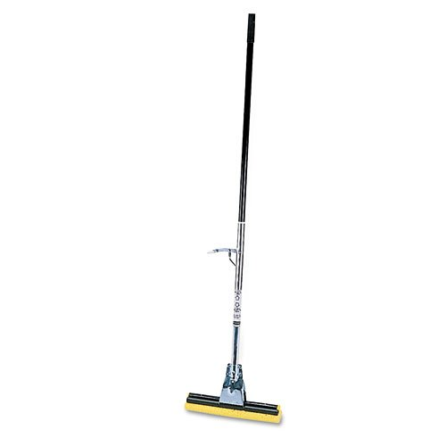 Rubbermaid Commercial Products - Steel Roller Sponge Mop, Bronze Handle W/12' Wide Yellow Sold As 1 Each Handle-Mounted Wringer. Easy-To-Clean, Easy-To-Replace Synthetic Head. Durable Handle. RCP6435BZE