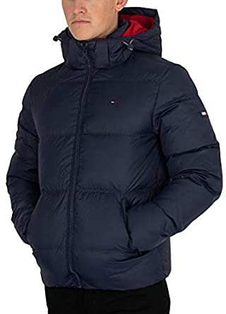 new lower prices biggest selection new style of 2019 Tommy Jeans Men's Essential Down Jacket, Blue, XS at Amazon ...