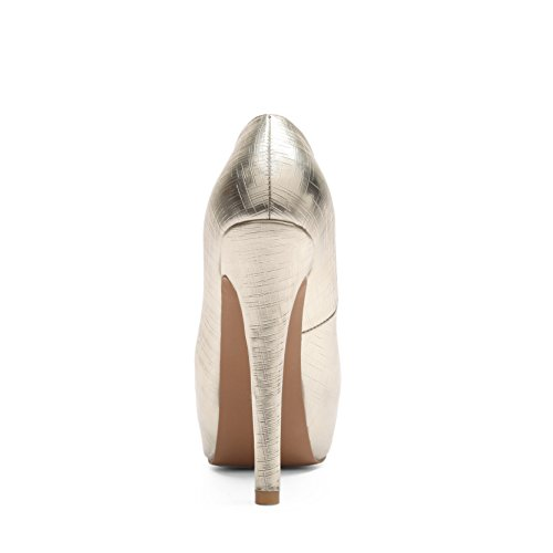 JIEEME Ladies Fashion Stiletto Women Pumps Gold Red High Heels Party Women Court Shoes Gold s6ueb