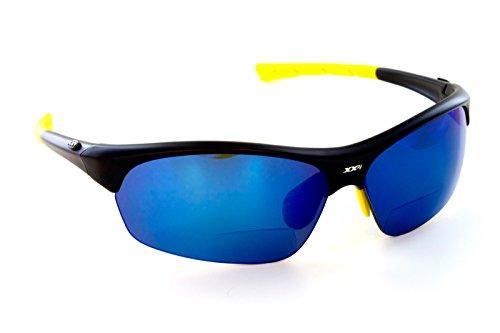 XX2i Optics Men's FRANCE1 Reader Sunglasses Grey Tinted Lens Matte Black - Xx2i Sunglasses