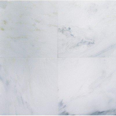 Bianco Carrara (White Carrera) Polished Marble 12 x 12 Tile