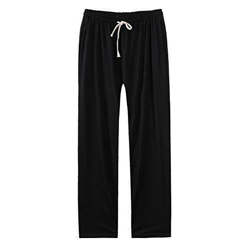 - Faddish Summer Casual Men Men's All-Match Sweatpants Loose Solid Soft Casual Elastic Mid Waist Plus Size Trousers Male,Black,XXXL
